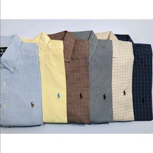 Lot of 6 Polo Ralph Lauren shirts L long sleeve